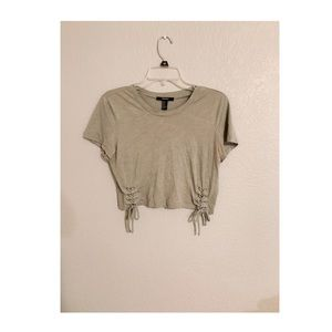 Forever 21 Olive Green Crop Top